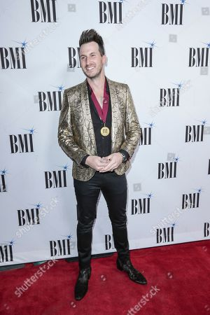 Russell Dickerson arrives at 67th Annual BMI Country Awards ceremony at BMI Music Row offices, in Nashville, Tenn