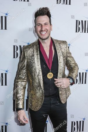 Stock Image of Russell Dickerson arrives at 67th Annual BMI Country Awards ceremony at BMI Music Row offices, in Nashville, Tenn