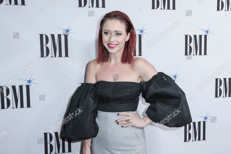 Kalie Shorr arrives at 67th Annual BMI Country Awards ceremony at BMI Music Row offices, in Nashville, Tenn