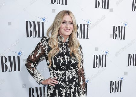 Stephanie Quayle arrives at 67th Annual BMI Country Awards ceremony at BMI Music Row offices, in Nashville, Tenn