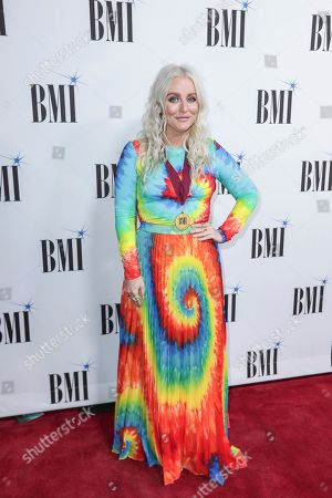 Stock Picture of Jessie Jo Dillon arrives at 67th Annual BMI Country Awards ceremony at BMI Music Row offices, in Nashville, Tenn
