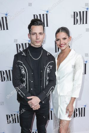 Devin Dawson, Leah Sykes. Devin Dawson, left, and his wife Leah Sykes, arrive at 67th Annual BMI Country Awards ceremony at BMI Music Row offices, in Nashville, Tenn