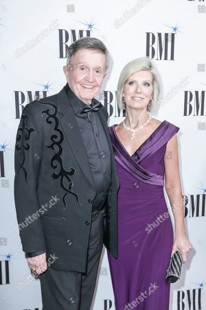 Stock Image of Bill Anderson, left, arrives at 67th Annual BMI Country Awards ceremony at BMI Music Row offices, in Nashville, Tenn