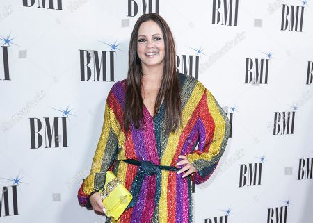 Sara Evans arrives at 67th Annual BMI Country Awards ceremony at BMI Music Row offices, in Nashville, Tenn