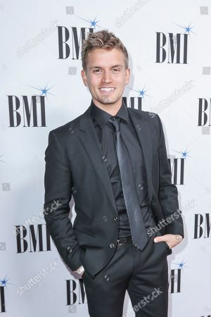 Levi Hummon arrives at 67th Annual BMI Country Awards ceremony at BMI Music Row offices, in Nashville, Tenn