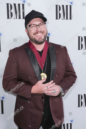 Mitchell Tenpenny arrives at 67th Annual BMI Country Awards ceremony at BMI Music Row offices, in Nashville, Tenn
