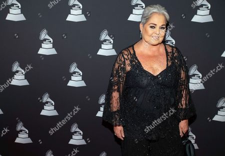 Stock Photo of Lupita D'Alessio arrives at the Latin Grammy special merit awards at the Waldorf Astoria Hotel, in Las Vegas