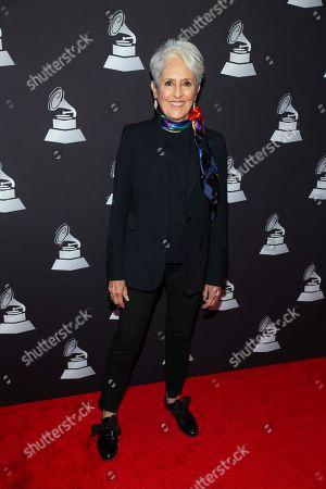 Joan Baez arrives at the Latin Grammy special merit awards at the Waldorf Astoria Hotel, in Las Vegas