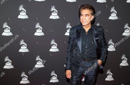 "Stock Image of Jos' Luis Rodr'guez ""El Puma. Jose Luis Rodriguez ""El Puma"", arrives at the Latin Grammy special merit awards at the Waldorf Astoria Hotel, in Las Vegas"