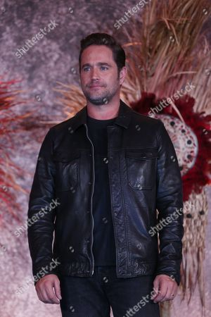 Stock Photo of Argentine actor Michel Brown poses for a photograph during the presentation of the series 'Hernan', which will broadcasted on November 24 by Mexican channel Azteca 7, and which shows conqueror Hernan Cortes upon his arrival and at the beginning of the conquest of Mexico on 14 March 1519.