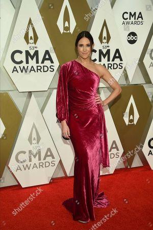Stock Photo of Kelleigh Bannen arrives at the 53rd annual CMA Awards at Bridgestone Arena, in Nashville, Tenn