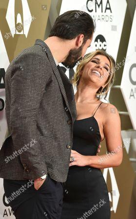 Eric Decker, Jessie James Decker. Eric Decker, left, and Jessie James Decker arrive at the 53rd annual CMA Awards at Bridgestone Arena, in Nashville, Tenn