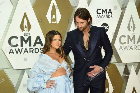 Maren Morris, Ryan Hurd. Maren Morris, left, and Ryan Hurd arrive at the 53rd annual CMA Awards at Bridgestone Arena, in Nashville, Tenn