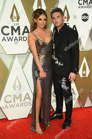 Carly Pearce, Michael Ray. Carly Pearce, left, and Michael Ray arrive at the 53rd annual CMA Awards at Bridgestone Arena, in Nashville, Tenn