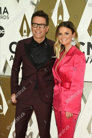 Bobby Bones, Amy Brown. Bobby Bones, left, and Amy Brown arrive at the 53rd annual CMA Awards at Bridgestone Arena, in Nashville, Tenn