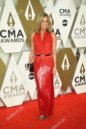 Lara Spencer arrives at the 53rd annual CMA Awards at Bridgestone Arena, in Nashville, Tenn