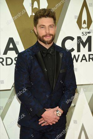 Chris Lane arrives at the 53rd annual CMA Awards at Bridgestone Arena, in Nashville, Tenn