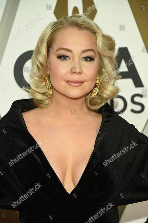 RaeLynn arrives at the 53rd annual CMA Awards at Bridgestone Arena, in Nashville, Tenn