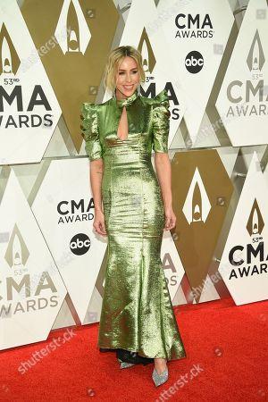 Mary Lawless Lee arrives at the 53rd annual CMA Awards at Bridgestone Arena, in Nashville, Tenn