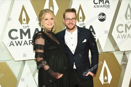 Stock Image of Jordan Reynolds, right, arrives at the 53rd annual CMA Awards at Bridgestone Arena, in Nashville, Tenn