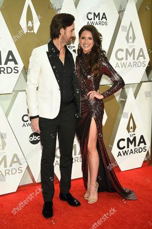 Jake Owen, Erica Hartlein. Jake Owen, left, and Erica Hartlein arrive at the 53rd annual CMA Awards at Bridgestone Arena, in Nashville, Tenn