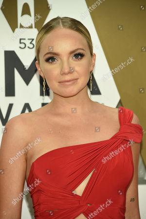 Danielle Bradbery arrives at the 53rd annual CMA Awards at Bridgestone Arena, in Nashville, Tenn