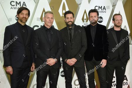 Geoff Sprung, Trevor Rosen, Matthew Ramsey, Brad Tursi, Whit Sellers. Geoff Sprung, from left, Trevor Rosen, Matthew Ramsey, Brad Tursi, Whit Sellers of Old Dominion arrive at the 53rd annual CMA Awards at Bridgestone Arena, in Nashville, Tenn