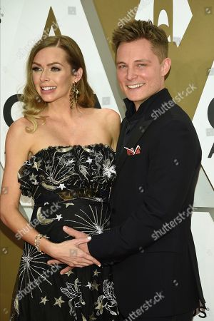 Christina Murphy, Frankie Ballard. Christina Murphy, left, and Frankie Ballard arrive at the 53rd annual CMA Awards at Bridgestone Arena, in Nashville, Tenn