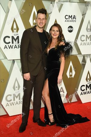 Russell Dickerson, Kailey Dickerson. Russell Dickerson, left, and Kailey Dickerson arrive at the 53rd annual CMA Awards at Bridgestone Arena, in Nashville, Tenn