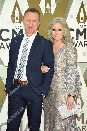 Craig Morgan, Karen Greer. Craig Morgan, left and Karen Greer arrive at the 53rd annual CMA Awards at Bridgestone Arena, in Nashville, Tenn