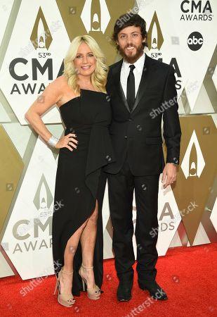 Chris Janson, Kelly Lynn. Chris Janson, right, and Kelly Lynn arrive at the 53rd annual CMA Awards at Bridgestone Arena, in Nashville, Tenn