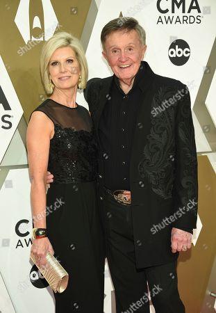 Stock Photo of Bill Anderson, right, arrives at the 53rd annual CMA Awards at Bridgestone Arena, in Nashville, Tenn