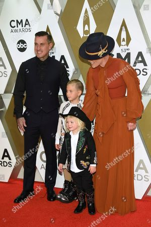 Carey Hart, Willow Sage Hart, Jameson Moon Hart, Pink. Carey Hart, from left, Willow Sage Hart, Jameson Moon Hart, and Pink arrive at the 53rd annual CMA Awards at Bridgestone Arena, in Nashville, Tenn