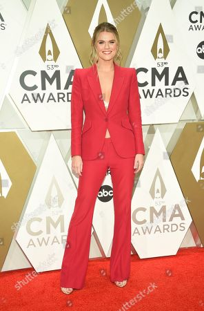 Stock Photo of Nicolle Galyon arrives at the 53rd annual CMA Awards at Bridgestone Arena, in Nashville, Tenn