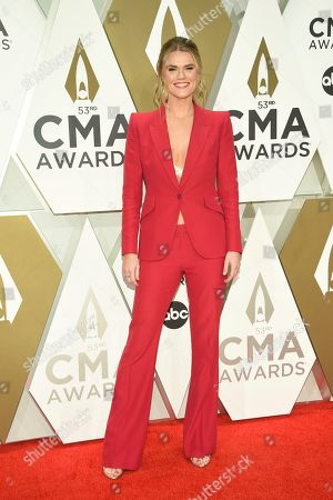 Nicolle Galyon arrives at the 53rd annual CMA Awards at Bridgestone Arena, in Nashville, Tenn