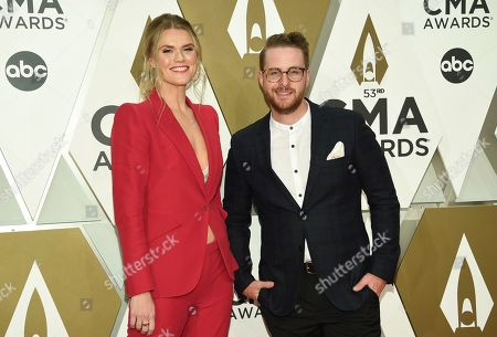 Nicolle Galyon, Jordan Reynolds. Nicolle Galyon, left, and Jordan Reynolds arrive at the 53rd annual CMA Awards at Bridgestone Arena, in Nashville, Tenn