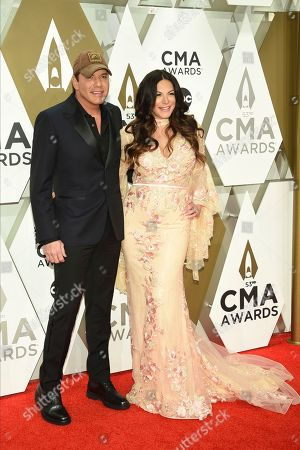 Rodney Atkins, Rose Falcon. Rodney Atkins, left, and Rose Falcon arrive at the 53rd annual CMA Awards at Bridgestone Arena, in Nashville, Tenn
