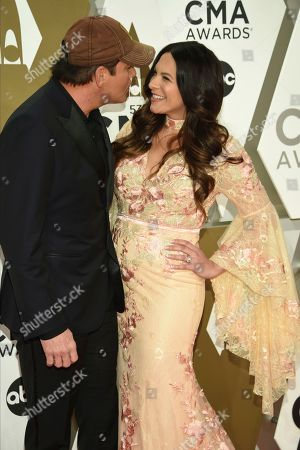 Stock Picture of Rodney Atkins, Rose Falcon. Rodney Atkins, left, and Rose Falcon arrive at the 53rd annual CMA Awards at Bridgestone Arena, in Nashville, Tenn