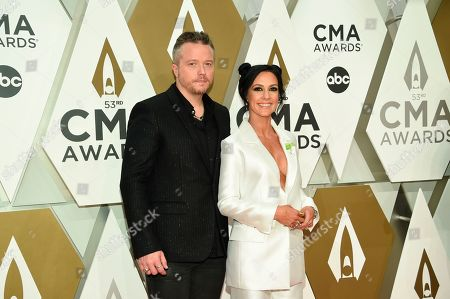Jason Isbell, Amanda Shires. Jason Isbell, left, and Amanda Shires arrive at the 53rd annual CMA Awards at Bridgestone Arena, in Nashville, Tenn