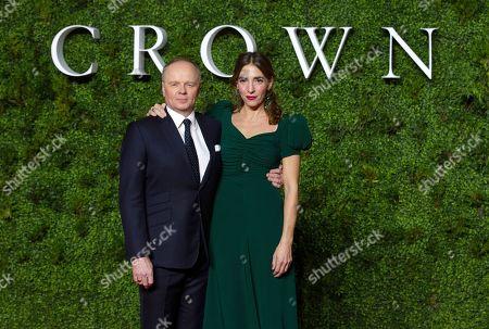 Stock Image of Jason Watkins with his wife Clara Francis
