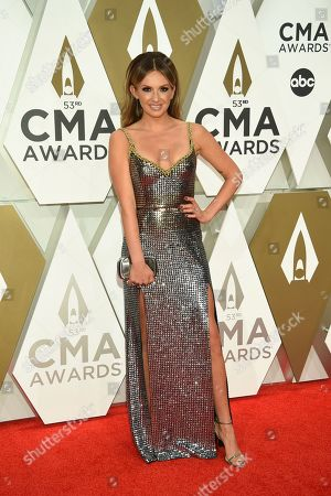 Carly Pearce arrives at the 53rd annual CMA Awards at Bridgestone Arena, in Nashville, Tenn