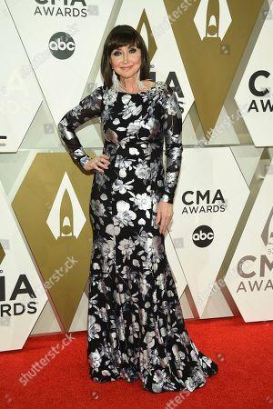 Pam Tillis arrives at the 53rd annual CMA Awards at Bridgestone Arena, in Nashville, Tenn
