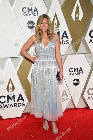 Colbie Caillat arrives at the 53rd annual CMA Awards at Bridgestone Arena, in Nashville, Tenn