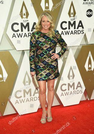 Deana Carter arrives at the 53rd annual CMA Awards at Bridgestone Arena, in Nashville, Tenn
