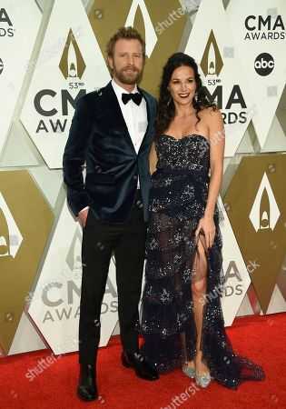 Dierks Bentley, Cassidy Black. Dierks Bentley, left, and Cassidy Black arrive at the 53rd annual CMA Awards at Bridgestone Arena, in Nashville, Tenn
