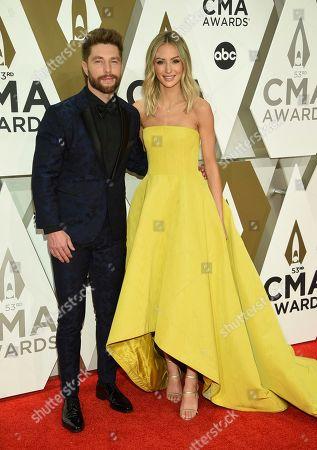 Stock Picture of Chris Lane, Lauren Lane. Chris Lane, left, and Lauren Lane arrive at the 53rd annual CMA Awards at Bridgestone Arena, in Nashville, Tenn