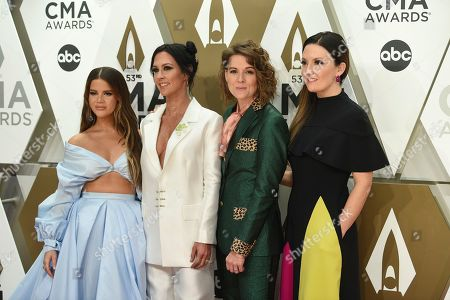 Maren Morris, Amanda Shires, Brandi Carlile, Natalie Hemby. Maren Morris, from left, Amanda Shires, Brandi Carlile, and Natalie Hemby arrive at the 53rd annual CMA Awards at Bridgestone Arena, in Nashville, Tenn