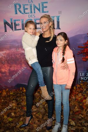 Elodie Gossuin and her daughters