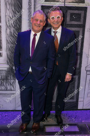 Stock Picture of Cameron Mackintosh (Producer/Co-Creator) and Thomas Schumacher (Producer) backstage