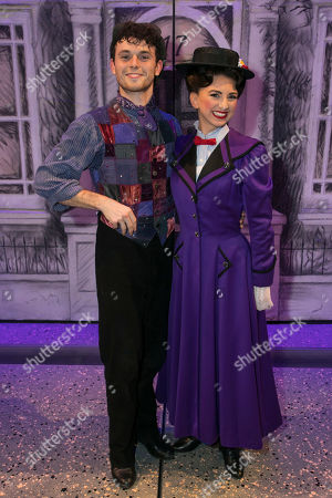 Charlie Stemp (Bert) and Zizi Vaigncourt-Strallen (Mary Poppins) backstage